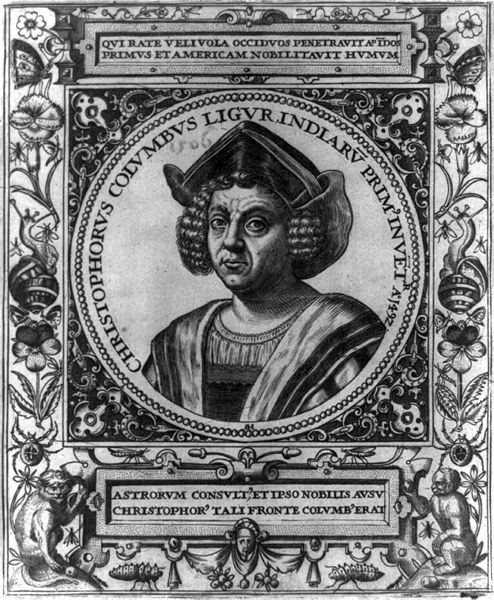 Columbus by Theodor de Bry