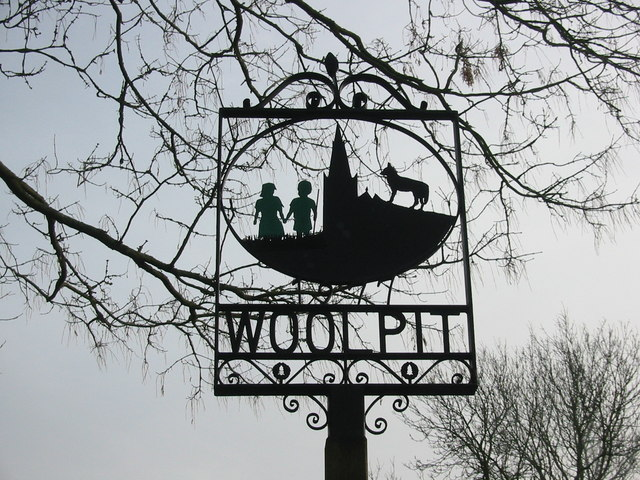Sign of Woolpit, England