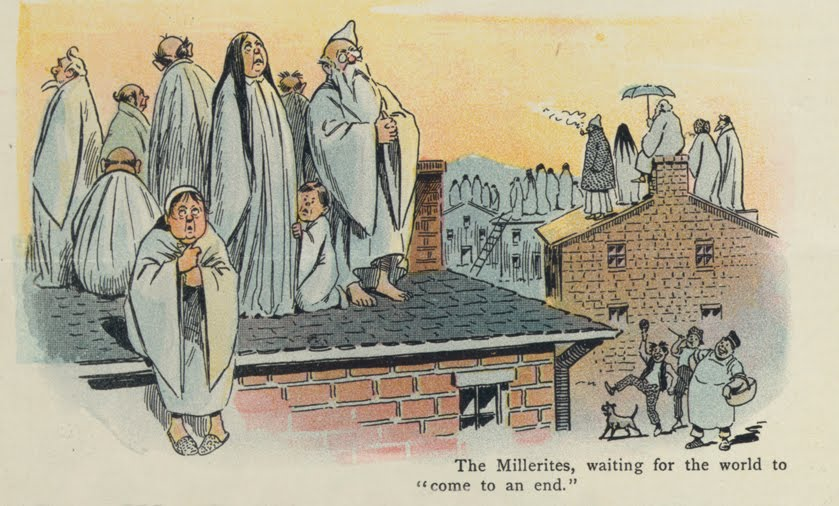 Cartoon of Millerites Waiting to Ascend
