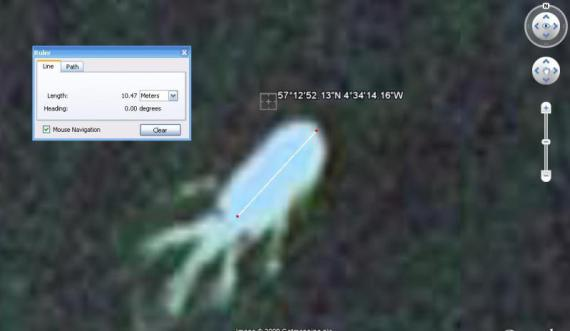 Related Articles: 2009, August 28: Loch Ness Monster Spotted On Google Earth ?